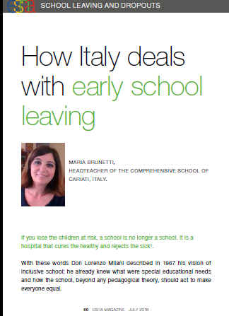 How Italy deal with early school leavings
