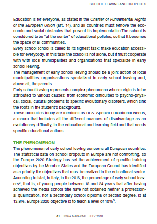 How Italy deal with early school leavings2
