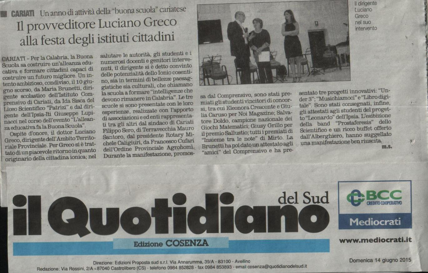 quotidiano art. manifestazione 10.6.15